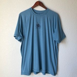 ⭐️ Life is Good Blue Bicycle Semi-Fitted T-Shirt
